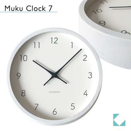 KATOMOKU muku round wall clock 7 km-60WH
