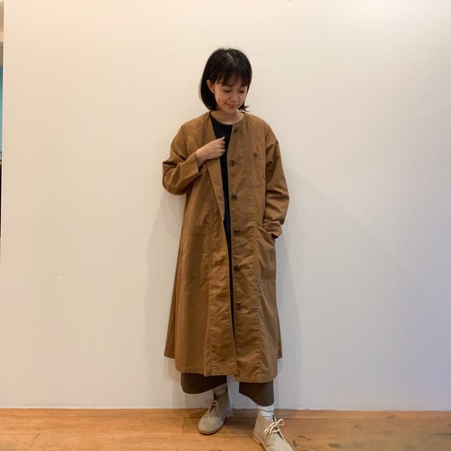 C-71083 Soft Chino Cloth Carpenter Coat Dress
