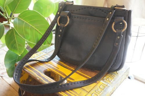 70's handcrafted leather shoulder Bag