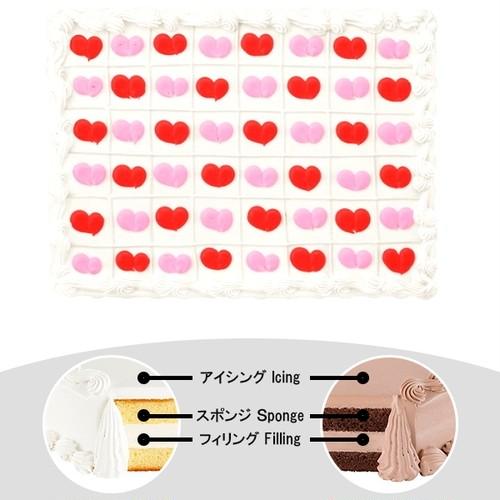 【予約】コストコ ハーフシートケーキ ハートがいっぱいケーキ | [Pre-order] Costco Half-sheet cake Scored Hearts Cake