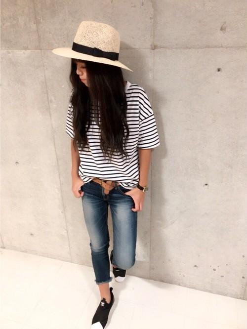 【SALE】☆30%OFF☆ボーダーTシャツ/ポッケTシャツ/Tシャツ/ネイビー/501-70787