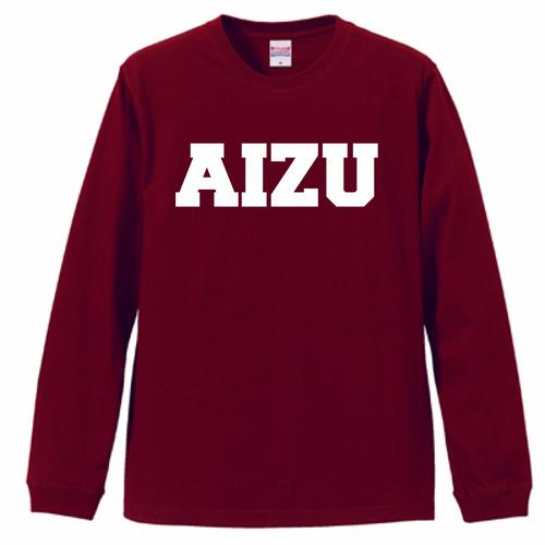 AIZU-Tシャツ L/S BASIC/バーガンディ