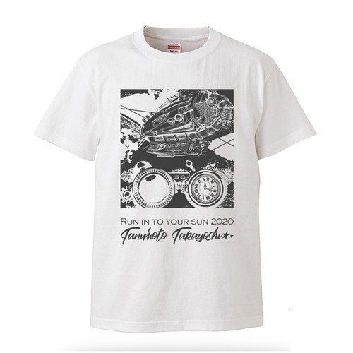 「Run into your sun 2020」T-shirt White&Grey
