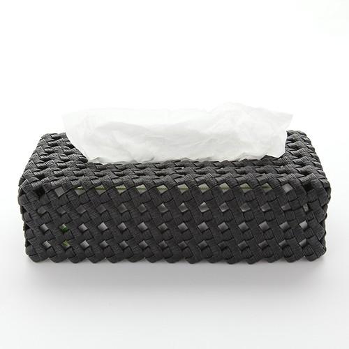 カゴティッシュケース(黒)