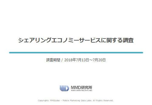 【MMD研究所自主調査】シェアリングエコノミーサービスに関する調査