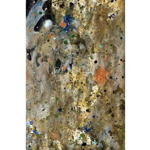 「月」 小説のページにアクリル * 現代美術 コンテンポラリーアート 絵画 紙作品 内野隆文 takafumiuchino