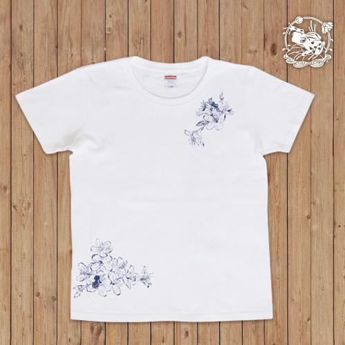 萬屋蛙商店 Tシャツ「花蛙」GMサイズ