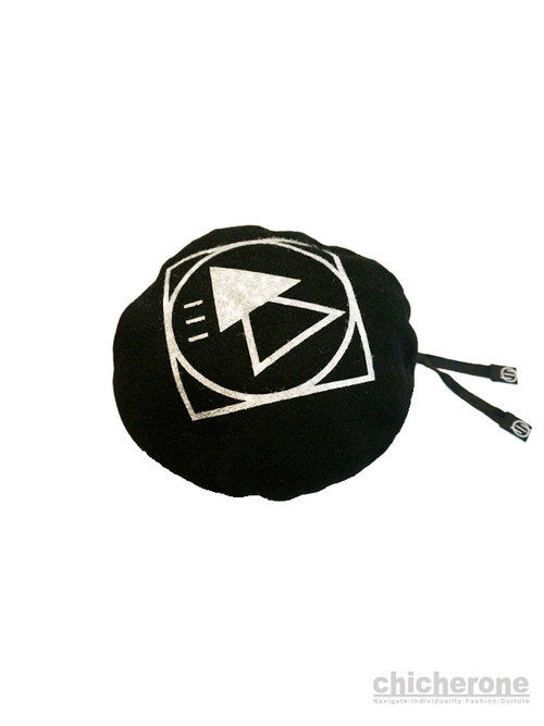 【SILLENT FROM ME】 CRYPTIC -BERET- BLACK×WHITE