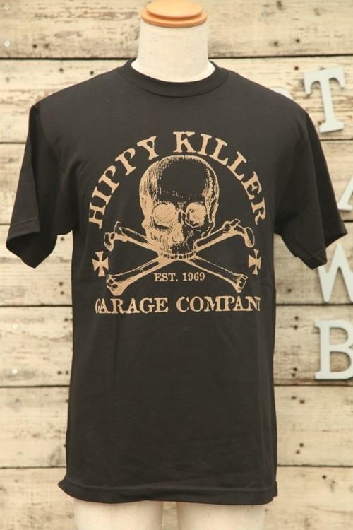 HIPPY KILLER(ヒッピーキラー)Tシャツ Mサイズ スカル 黒 【BIK-t-22】