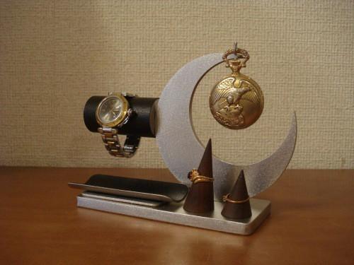 腕時計、懐中時計ブラックトレイ&リングスタンド未固定バージョン  ak-design 受注製作 N15611
