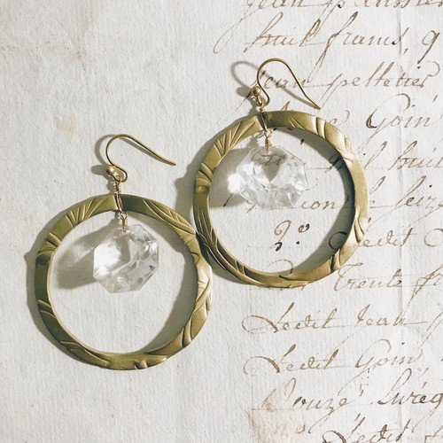 Chandelier earrings -hoop-