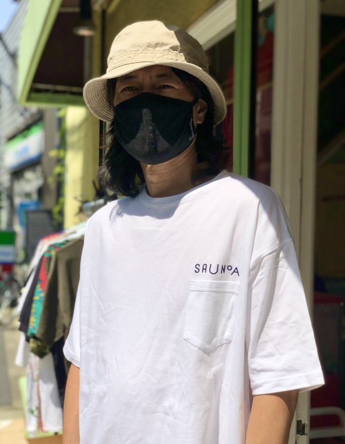 【SAUNOA】Logo embroidery pocket T-shirts