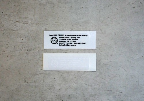 Decals, Address Labels, WH, BK