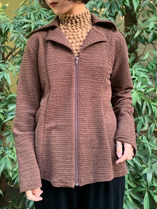 (TOYO) full zip pleats design jacket