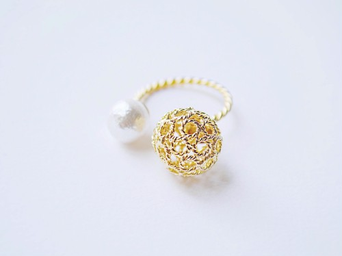 gold cocoon ring