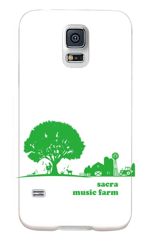 sacra music farm スマホケース(Galaxy S5 SC-04F/SCL23:ホワイト)