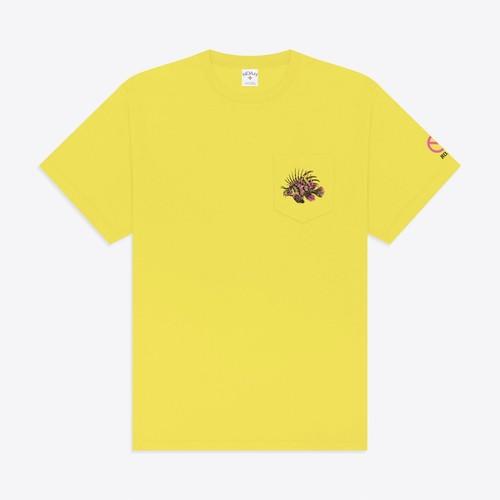 Lion Fish Pocket Tee(Cyber Yellow)