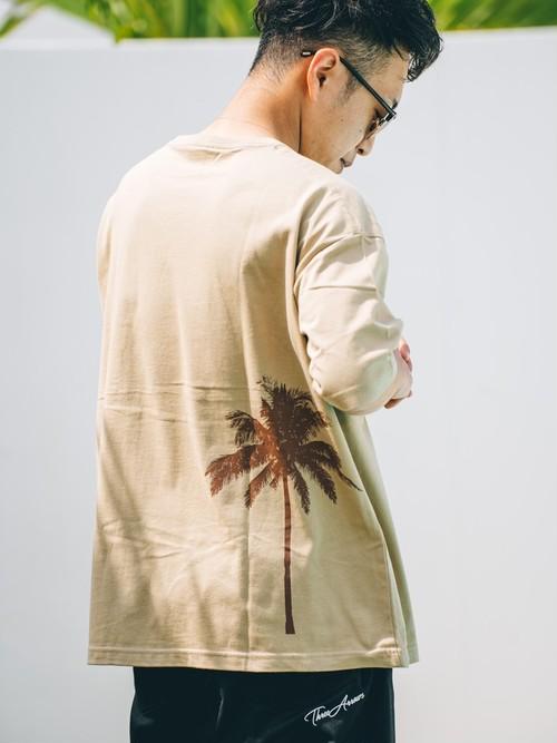 【5/5(WED)20:00 販売開始】ThreeArrows Palmtree BIG S/S TEE (beige)
