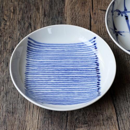麻布手 5寸皿 作:井手國博・与志郎窯(有田焼)