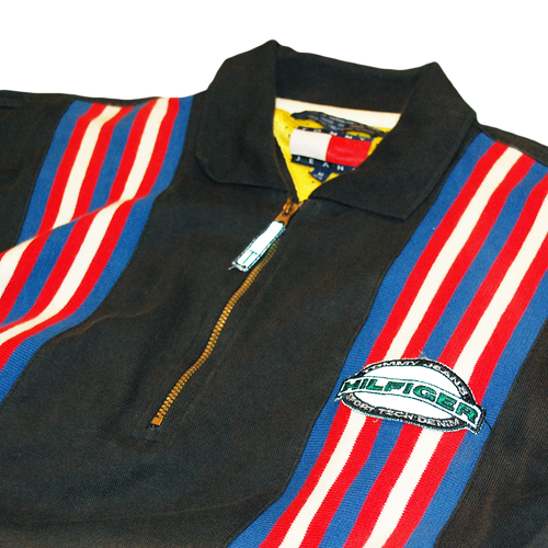 """""""Tommy Jeans"""" Vintage Zipup Rugby Shirt Used"""