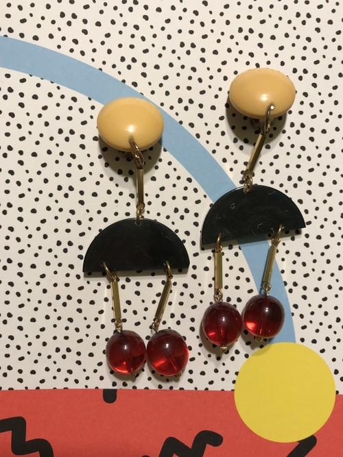 Desiner's bakelite earrings ( デザイナーズ ベークライト イヤリング )