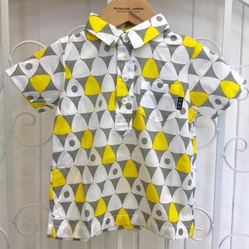 ●幾何学おにぎり柄ポロシャツ☆
