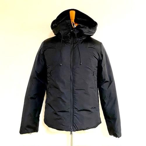 Limonta Komatsu Nylon Seamless Hooded Down Jacket Nero