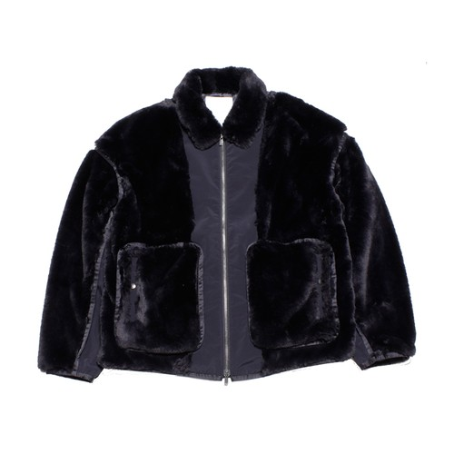 Enharmonic TAVERN Fur Blouson -black <LSD-AH3B1>