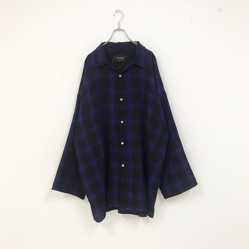 BIG CHECK SHIRT(PURPLE)
