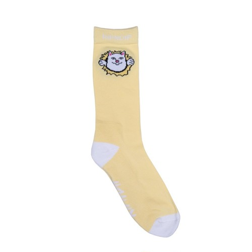 RIPNDIP(リップンディップ) | NERMALMANIAC SOCKS (Yellow)