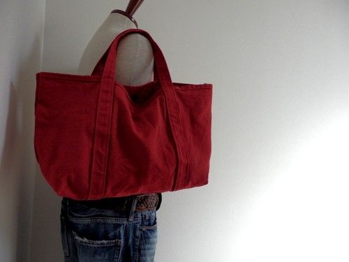 midi tote (pure red)