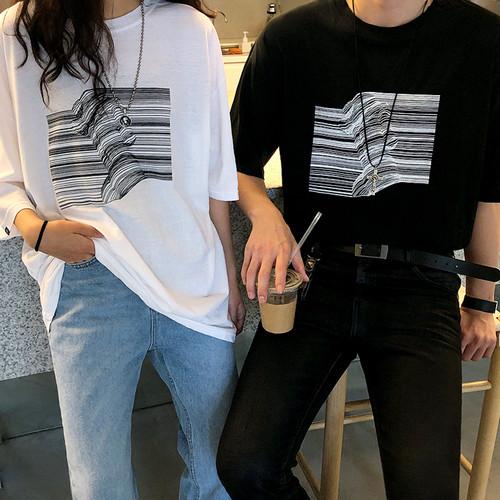アートプリントTシャツ BL5559
