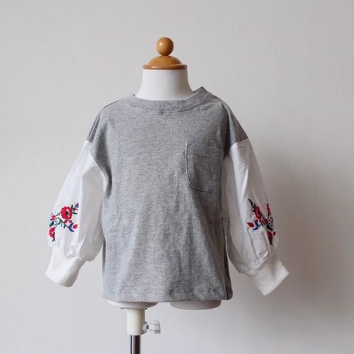 子供服 袖ローン刺繍 カットソー