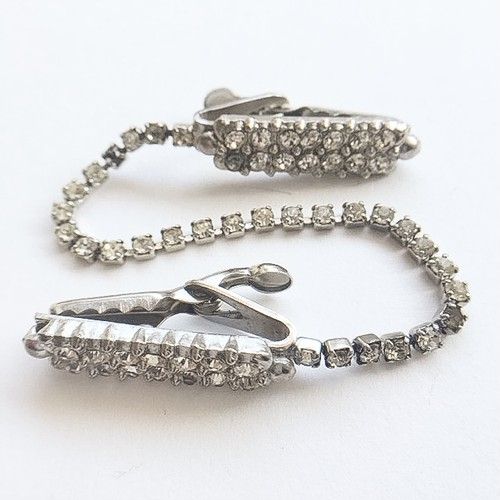 clear rhinestone sweater clip[s-187]