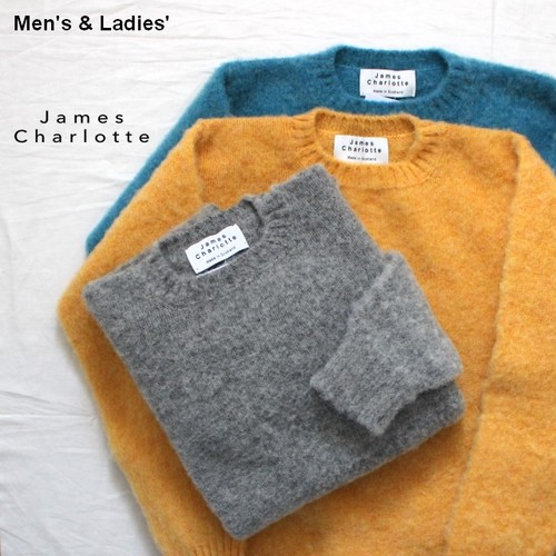 James Charlotte シャギードッグニット SHAGGY DOG KNIT / Jamieson's Wool 3カラー