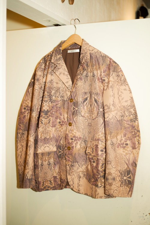Men's / botanical painting JACKET