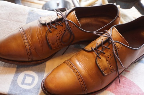"Allen Edmonds cap-toe blucher dress Shoes ""Clifton"""