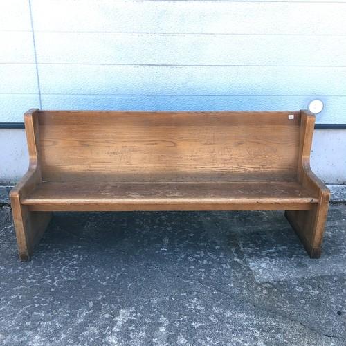 品番2176 チャーチベンチ 教会 ベンチ 3~4人掛け 木製 アンティーク 家具