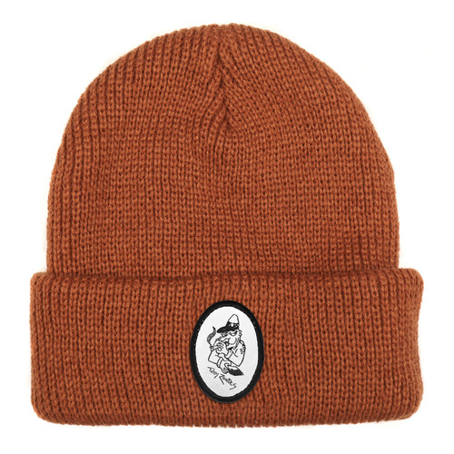 PASS PORT / TOBY ZOATES COPPER BEANIE -RUST-