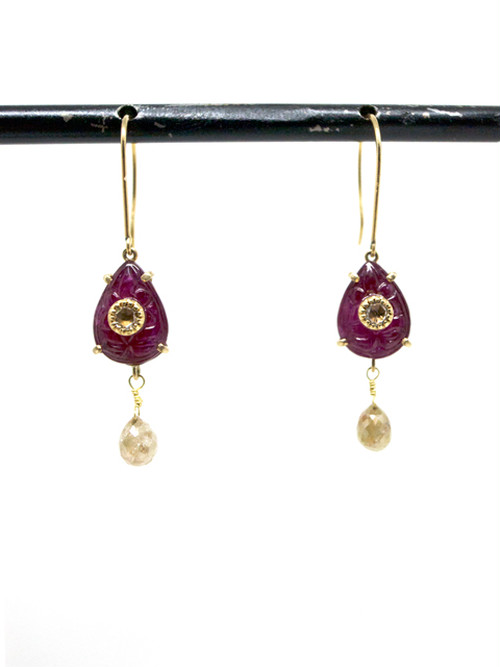 【 10% SALE 】Natural Ruby ピアス