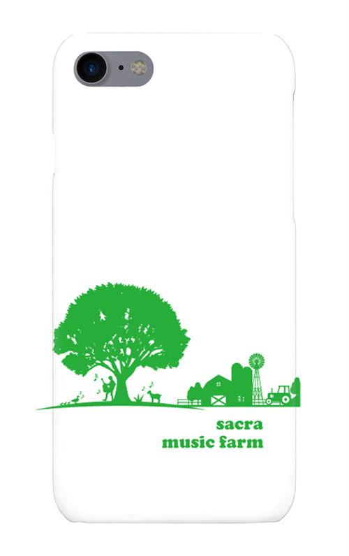 sacra music farm スマホケース(iPhone7/8:ホワイト)