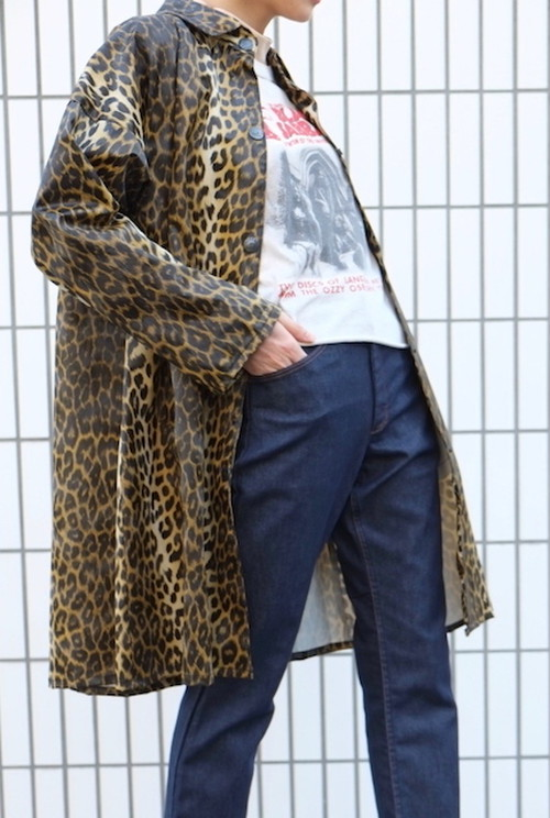 leopard record coat.