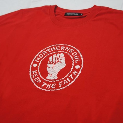 NORTHERN SOUL KEEP THE FAITH Tee  RED