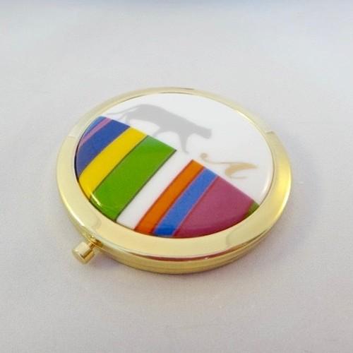 コンパクトミラー(北欧にゃんこ)スマートレター送料無料