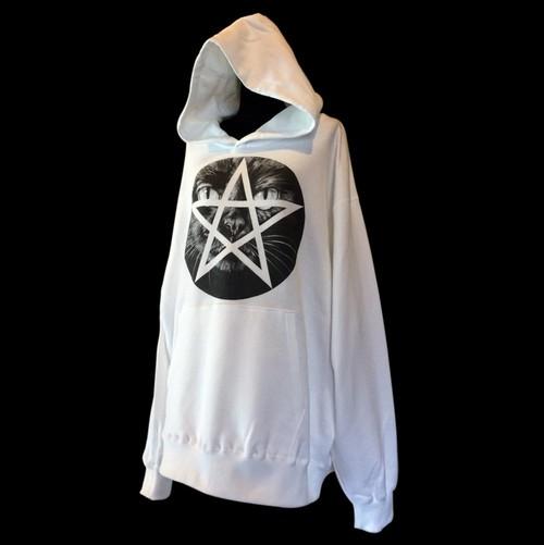 """""""Pentagram CAT"""" printed hoodie"""