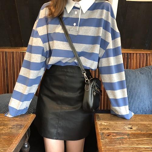 【送料無料】カッコいいレザー調♡ ミニスカート タイトスカート ブラック 黒 ハイウエスト
