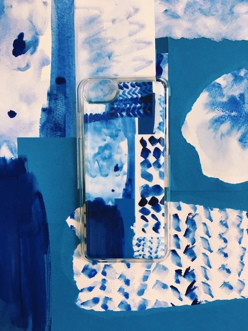 【先行予約 12/6~12/19】I Eye's iPhone case SLIDE iPhone8/7/6s/6対応ケース 「Chinese Blue」
