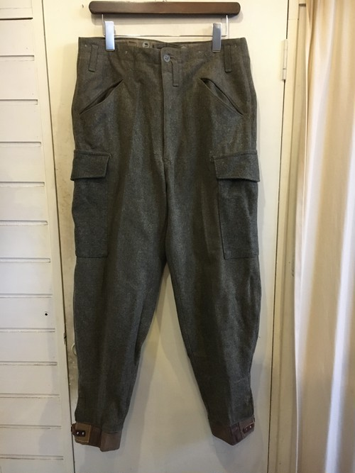 40s swedish military wool trousers