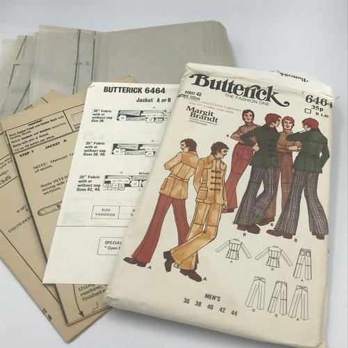 70年代 ヴィンテージ洋服パターン Butterick men's