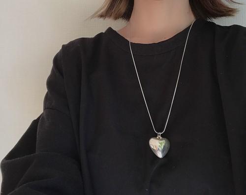 【60cm】vintage Heart  necklace